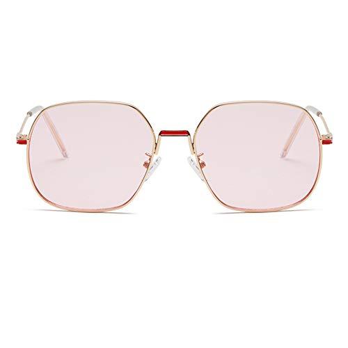 YHgiway Fashion Square Frame Sonnenbrillen für Frauen-Rose rosa/Clear Shades Lens mit UV400 Schutzgläsern YH6875,Gold/Pink