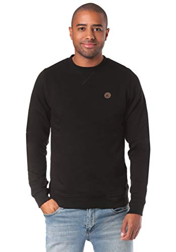 Lakeville Mountain Herren-Pullover Milo, vielseitiger Basic-Sweater, Sweat-Shirt, Pulli, Langarm-Shirt, Long-Sleeve, Black Schwarz, Größe XL