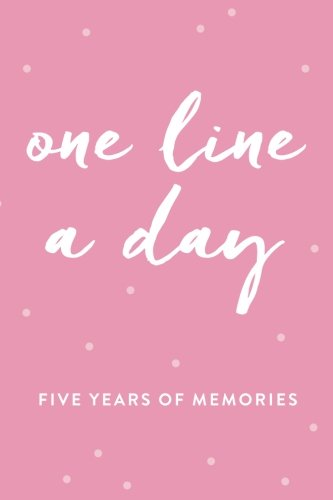 one-line-a-day-journal-five-years-of-memories-6x9-diary-dated-and-lined-book-pink