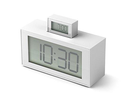 Lexon lr139W6InOut Despertador abs 11,5x 4x 7,9cm Color Blanco