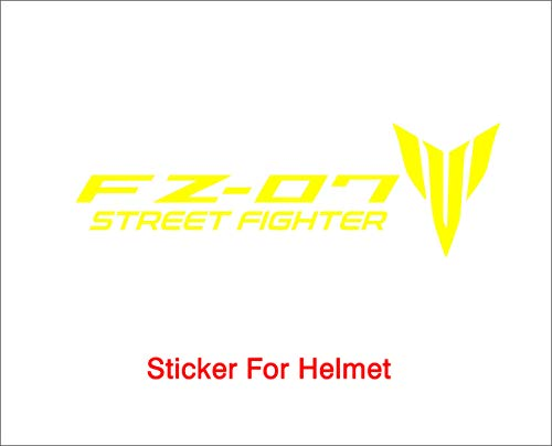 ISEE 360® Yamaha Stickers for Bike Helmet R15 V3 Yellow Decals L x H 10 x 2 and 4 x 2.5 Cms Pack of 2