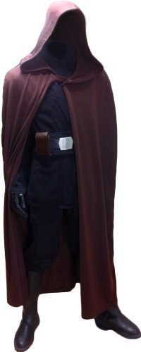 Kostüm Schwarz Skywalker Luke - Star Wars Luke Skywalker Jedi Ritter Robe - Dunkelbraun