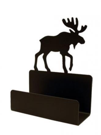 Village Fer Forg- BCH-19 Moose Business Card Holder
