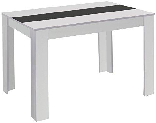 CAVADORE 80348 Esstisch NICO / Moderner, praktischer Küchentisch 140 x 80 cm in Melamin Weiß mit...