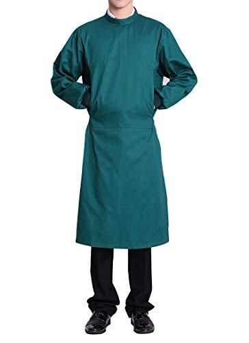 Nanxson Unisex Herren Frauen Operationskittel Lab Medizin Uniform Arbeitskleidung ME0002 (Grün, S)