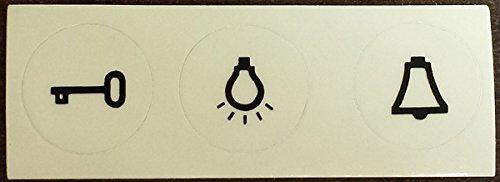Adolf von Hagen Schalter Steckdosen Programm, Streifen mit Klebesymbol für Licht Schalter, Klingel Drücker, Tür Öffner (Licht-haus-programm)