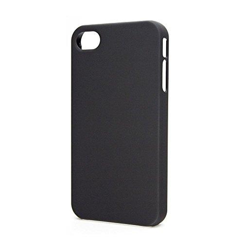 Xqisit 11582 Coque iPlate Mat pour iPhone 4/4S Blanc Noir
