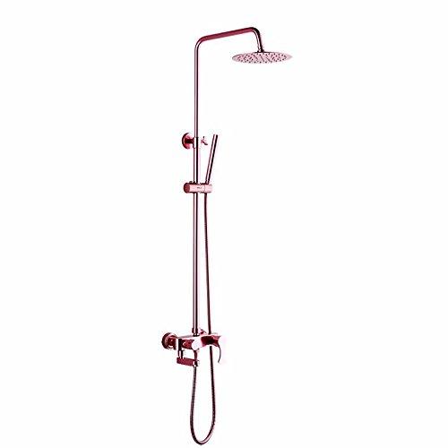 jslcr-set-de-ducha-espacio-aluminio-color-rojo-ducha-lluvia-dorada-grifos-pueden-montarserosa-roja