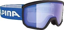 ALPINA Sports Unisex- Erwachsene SCARABEO R Skribrille, Black-Blue One Size