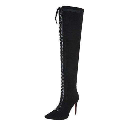 Overknees Scarpe Da Donna Overknees Penny / Tacco A Spillo Tacco Alto Cerniera Ital-design Stivali Nero Ae51
