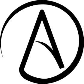 Atheismus Schwarz Atheist Natur Stofftasche Atheism Merchandise Tasche Mister Farbe Eqwv11