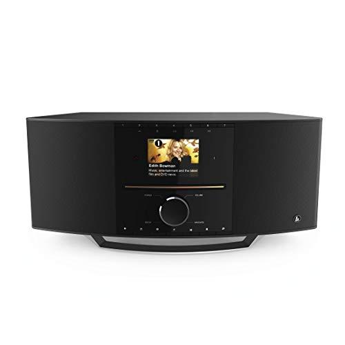 Hama WLAN-/ Internetradio (mit CD-Player und DAB+ WLAN/Digitalradio/UKW/CD/Bluetooth/USB/AUX, Spotify, Multiroom, 40W (rms), Farbdisplay, Steuerung per Fernbedienung/gratis UNDOK-App, Radio-Wecker)