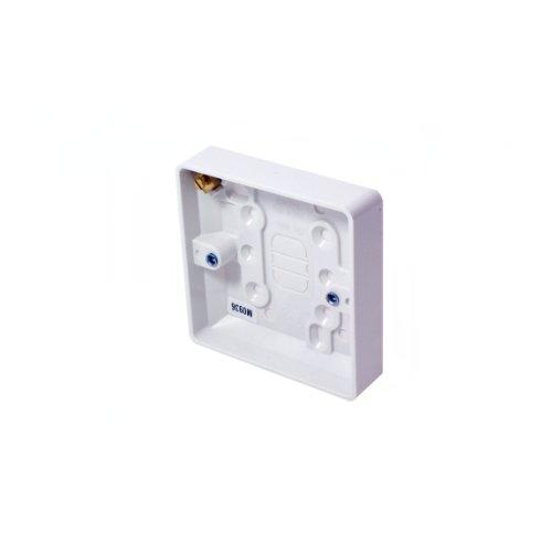38mm Deep Single Kunststoff Oberfläche Rückseite Lieferumfang–1Gang Wand Unterputzdose Gerätedose Outlet–Cablefinder (Gang-outlet-box)