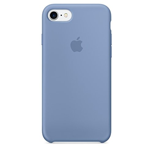 Apple mq0j2zm/a custodia in silicone per iphone 7, azzurro
