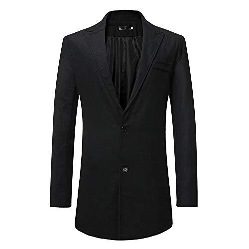 JackRuler Herren Slim Fit Langarm Anzug Mantel Jacke Trenchcoat Top Bluse Windjacke