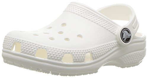 crocs Unisex-Kinder Classic Clog Kids Clogs, Weiß (White), 22-23 EU (C6 UK)