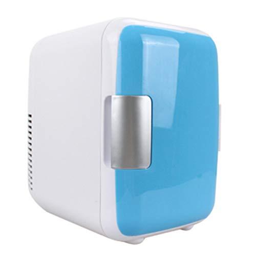 TWW Auto-Minikühlschrank, Niedrigenergie, sparsam und umweltfreundlich Tragbarer, heißer und kalter Mini-4L-Minikühlschrank mit doppeltem Verwendungszweck, geeignet für Küche/Auto/Verwendung zu Hause -