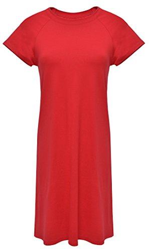 DKaren-Nachtwäsche Negligee aus Viskose FLORA (XS – 2XL) Rot