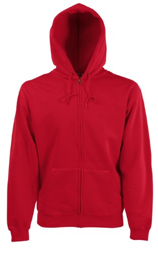 Fruit of the Loom - Sweat-shirt -  Homme Rouge - Rouge