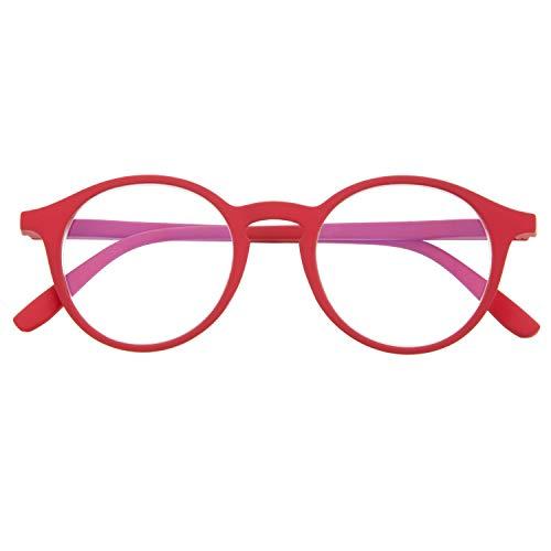 DIDINSKY Blaulichtfilter Brille für Damen und Herren. Blaufilter Brille mit stärke oder ohne sehstärke für Gaming oder Pc. Gummi-Touch-Tempel und Blendschutzgläser. Ferrari +2.5 - UFFIZI