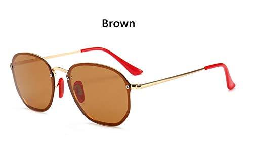 Sonnenbrille Retro Kleine Sechseckige Polarisierte Sonnenbrillen Männer Im Freien Treibenden Gläser Luxus Spiegel Sonnenbrille Frauen Einzigartige Brillen Vu 400 Golden Braun