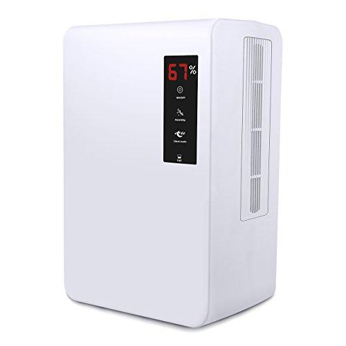 Luftentfeuchter mit 3L Wassertank,Air Dry Feuchtigkeitsentzugfähigkeit(1200ml pro Tag) mit Touchscreen,kontrollierbare Luftfeuchtigkeit,Stummmodus für Schlafzimmer,Küche,Schrank,Bücherregal usw