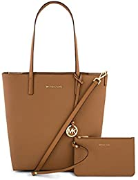 MICHAEL MICHAEL KORS Hayley Large Convertible Tote (Acorn/Oyster) 30S7GH3T9B-541