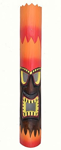 FUEGO-PELO-Tiki-Mscara-de-pared-100cm-IM-HAWI-look-Mscara-de-madera-HAWI-Maui-Mscara-ISLA-DE-PASCUA-Kauai