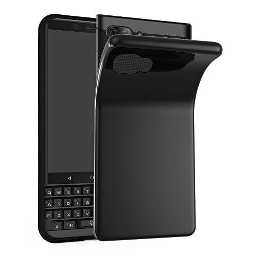 Cadorabo Hülle für BlackBerry Key 2 - Hülle in SCHWARZ - Handyhülle aus TPU Silikon im Ultra Slim 'AIR' Design - Silikonhülle Schutzhülle Soft Back Cover Case Bumper