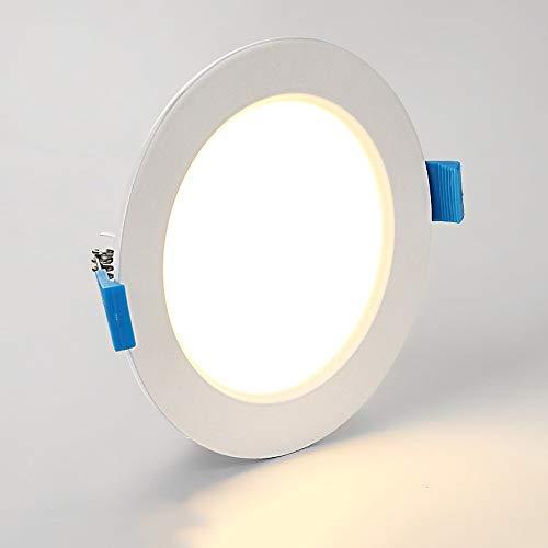 BTBAM 6W LED empotrables Focos redondas iluminación del panel interior Oficina Cocina...