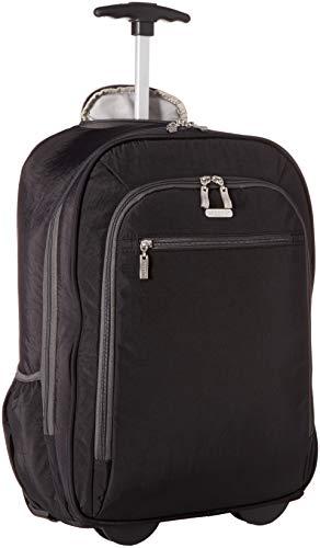 Baggallini Damen Wheeled Backpack Laptop-Rucksack mit Rollen, Schwarz/Charcoal, Einheitsgröße
