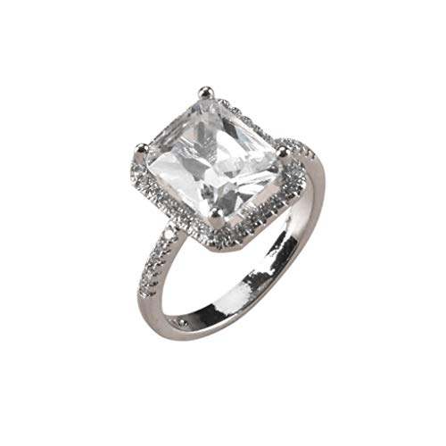 UINGKID Schmuck Damen Ring Luxus Trend Voller Diamant Platz ()