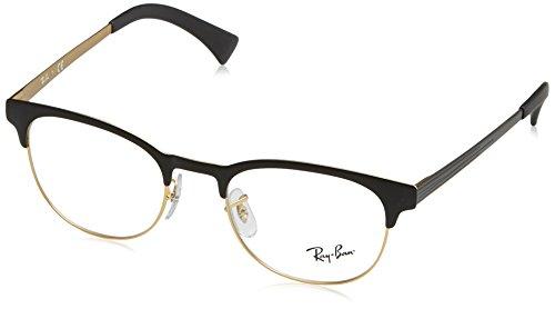 Rayban Unisex-Erwachsene Brillengestell RX6317, Schwarz (Top Black On Matte Gold), 51