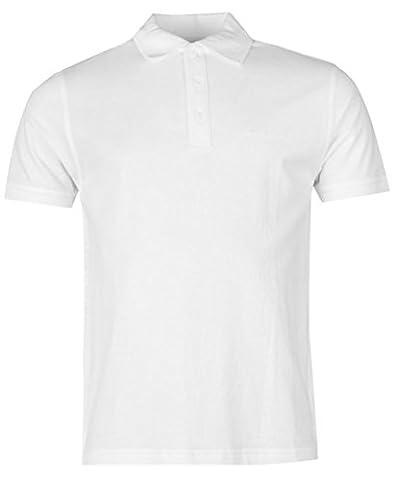 Poloshirt für Herren, kurze Ärmel, unifarben Gr. Einheitsgröße, weiß