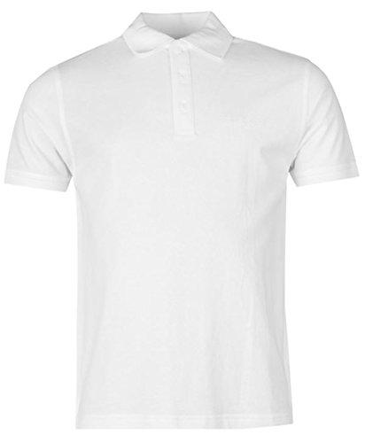 Poloshirt für Herren, kurze Ärmel, unifarben Weiß - Weiß