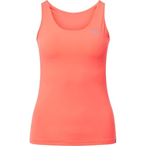 Mädchen und Damen Tennis / Feldhockey / Laufen / Fitness Tank Top in neon orange Gr.164