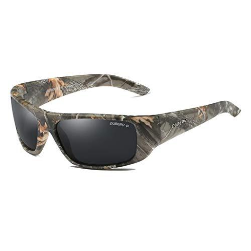 WANG LIQING Polarisierte Sonnenbrille Männer Camouflage Wrap Around Für Männer Frauen Fahren 100% UV Für Sport oder andere Außentüraktivitäten (Farbe : Gray)
