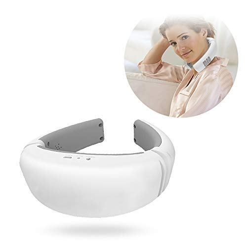 Spracherkennung Geborgenheit der Massager,3D Fit + Wireless Portable + konstante Temperatur-Heißkompress.6 Kinds von Massage-Methoden, Relieve Neck Muskelstiftigkeit, Sorgenität