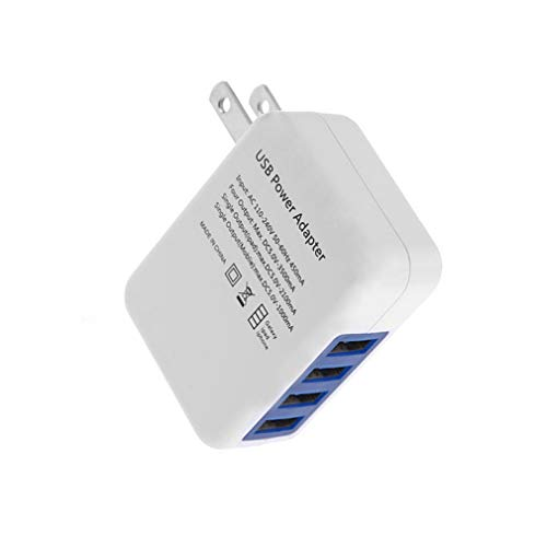 Monland Wei? Kunststoff 2.1A 4 Anschluss USB Tragbar Haus Reise Ladeger?t Ac Netzteil Für Für Us Stecker Gps-ac-wand-adapter