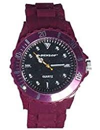Dunlop – Trendy Mujer Reloj – Lila Pulsera de Silicona ...