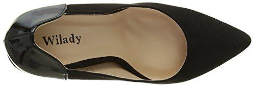 Angkorly - damen Schuhe Pumpe - Stiletto - Patent Stiletto high heel 11 CM Schwarz