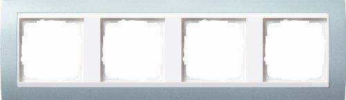 Preisvergleich Produktbild Gira 0214326 Abdeckrahmen 4-fach für reinweiß Event,  alu