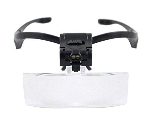Dermastil LED Lupenbrille - Vergrößerungsbrille - 5 Aufsätze - Wimpernverlängerung