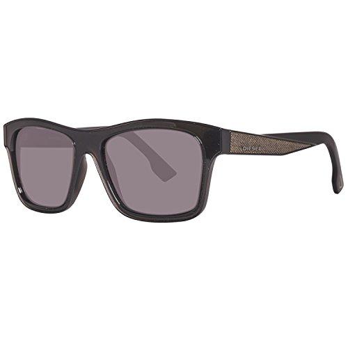 Diesel sonnenbrille dl0071 5501a, occhiali da sole unisex-adulto, nero (schwarz), 55