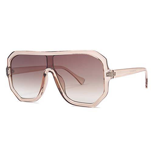 Taiyangcheng Polarisierte Sonnenbrille Sonnenbrille Frauen Oversize Flat Top Retro Quadrat Sonnenbrille Für Frauen Vintage Markendesigner Weibliche Uv400,C3