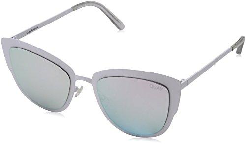Quay Eyewear Damen Sonnenbrille Super Girl, Weiß (White/Lila), 147