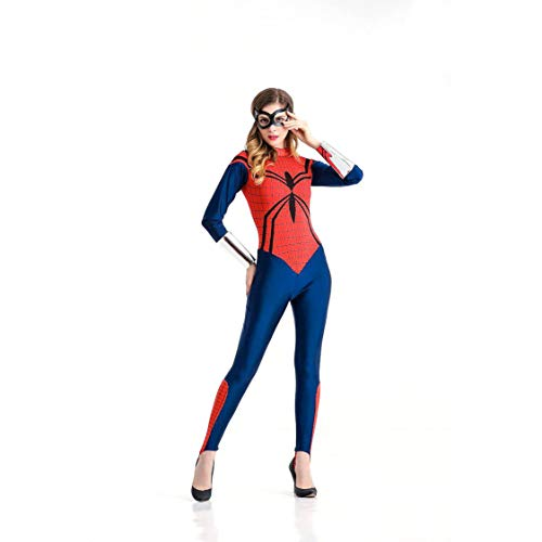 Costume di halloween cosplay per adulti spiderman abbigliamento per anime tuta aderente eroina superman abbigliamento adatto per carnevali feste a tema,red,m