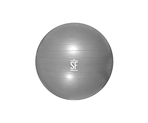 Suprfit Anti-Burst Gymnastikball | Gymnastic Ball | Sitzball | Fitnessball | Yoga Pilates Fitness Gym Cross Training Physio Therapie | Stabilität Balance | Belastbar bis 350 kg | 65 cm |
