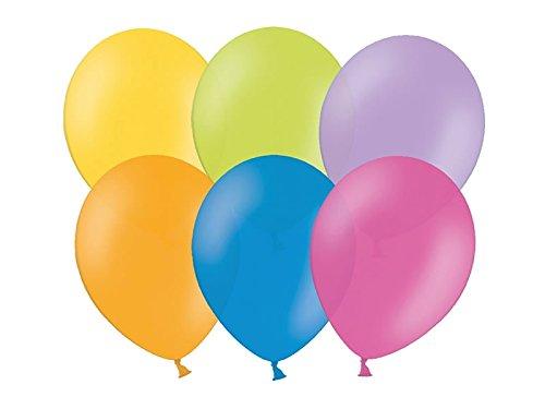 100Globos de Colores–23cm Pastel–Forma Estable–Kleenes sueño Comercio