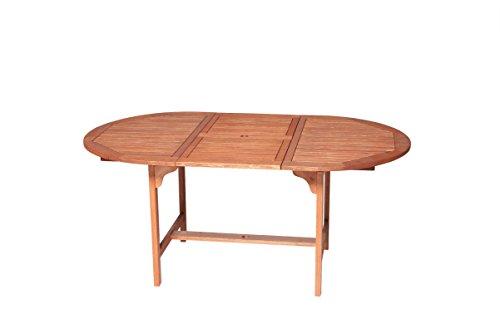 Ausziehbarer Holz Gartentisch   2